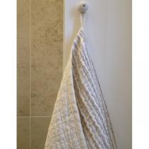 Suur rätik beeži-valge voldiline