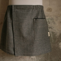 Men´s Sauna/Bath- and SPA Skirt. Black fishbone pattern