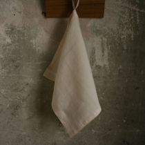 Small Linen Towel. White Plain