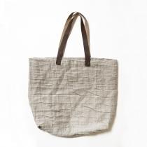 Linane hall kott nahast sangadega