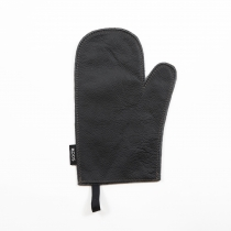Leather Oven Mitten, dark brown