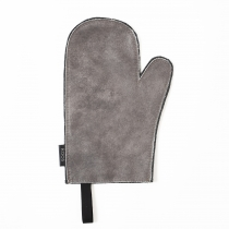 Leather Oven Mitten, gray
