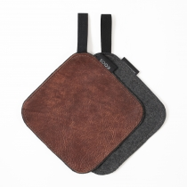 Leather Pot Holder, chestnut