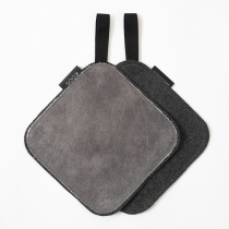 Leather Pot Holder, gray
