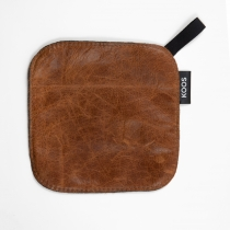 Leather Pot Holder, cognac brown
