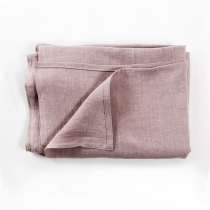 Linen Tablecloth. Pink/Gray plain 145x200