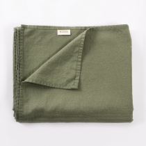 Linen Tablecloth. Light Green 142x227