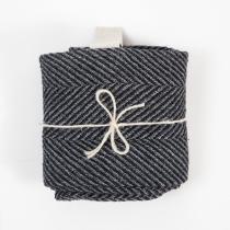 Linane suur rätik, must kalasaba muster