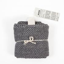 Linane suur rätik, halliruuduline muster