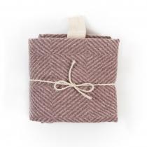 Linane suur rätik, roosaruuduline muster