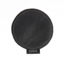 Leather Coaster, black