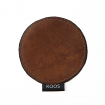 Leather Coaster, brown