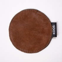 Leather Coaster, cognac brown