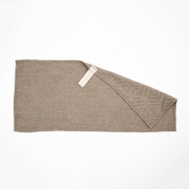 Linane rätik, beežiruuduline muster