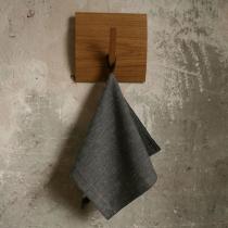 Small Towel. Black Fishbone