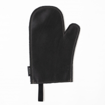Leather Oven Mitten, black