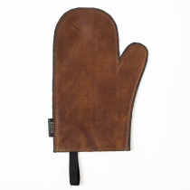 Leather Oven Mitten, brown