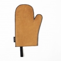 Leather Oven Mitten, camel color