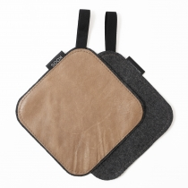 Leather Pot Holder, beige