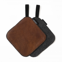 Leather Pot Holder, brown
