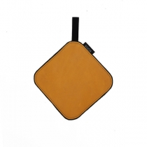 Leather Pot Holder, mustard yellow