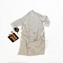 Linane hommikumantel, linasehall kalasaba