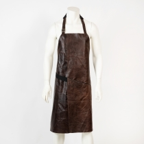 Leather Apron, dark brown, glosssy