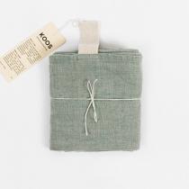 Big Linen Towel. Mint green with Fishbone Pattern