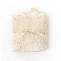 Big Linen Towel. White Textured Fabric