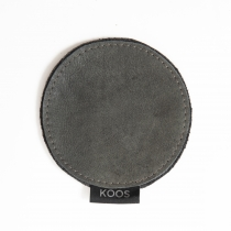 Leather Coaster, gray
