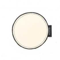 Leather Coaster, white