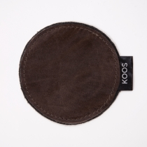 Leather Coaster, dark brown