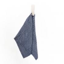 Linane väike rätik. Sinine kalasabamuster
