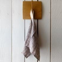 Linane väike rätik, roosakas-halli säbruline toon