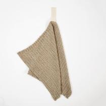 Linane väike rätik, linasehall tekstuurne kangas